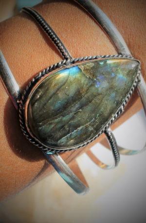 Bracelet en labradorite