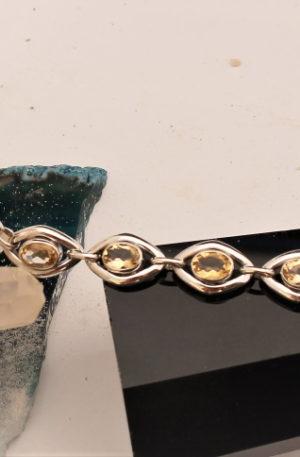 bracelet en citrines véritables