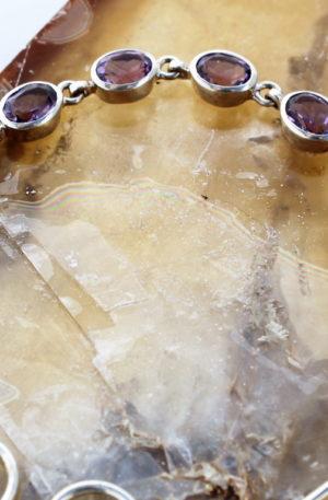 bijoux argent massif et améthystes naturelles