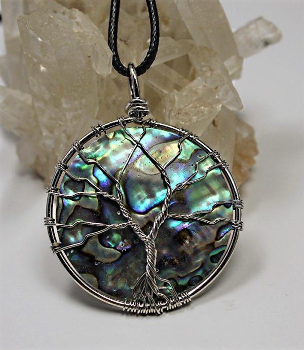 collier arbre de vie abalone