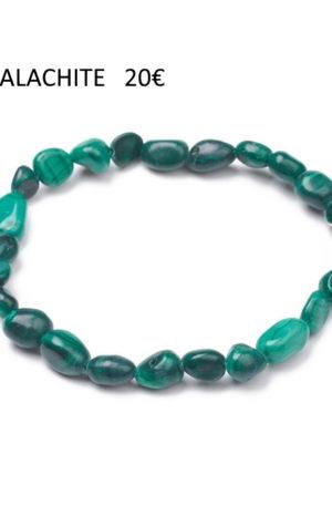 Bracelet malachite-pierre fine véritable