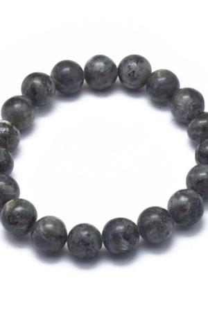 Bracelet en larvikite-10mm-pierre fine véritable