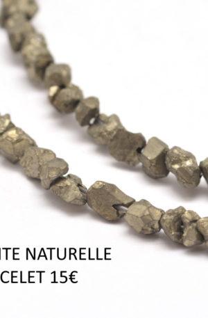 Bracelet pyrite- pierre fine véritable