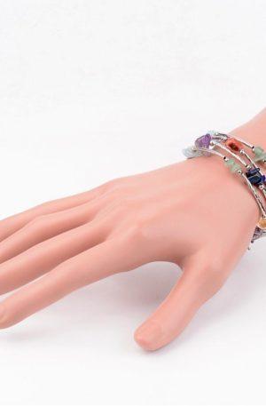Bracelet multi-pierres-pierre fine véritable