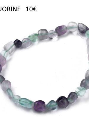 Bracelet fluorite-pierre fine véritable
