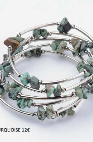 Bracelet turquoise-pierre fine véritable