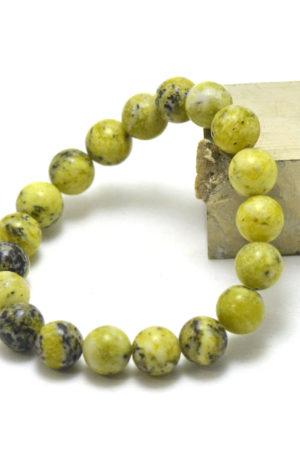 Bracelet quartz citron- bijoux en pierre fine véritable -8mm